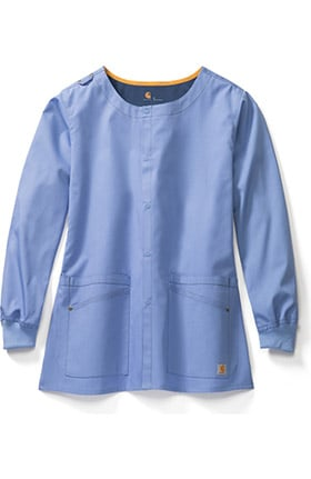 Clearance Rockwall by Carhartt Women's FORCE® Snap Front Solid Scrub Jacket