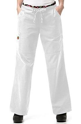 Clearance Mary Engelbreit Women's Boot Cut Cargo Scrub Pant