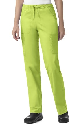 Signature Cotton by Vera Bradley Women's Florence Drawstring Cargo Scrub Pant