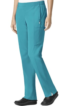 Clearance Halo by Vera Bradley Women's Mary Slim Seam Drawstring Cargo Scrub Pant