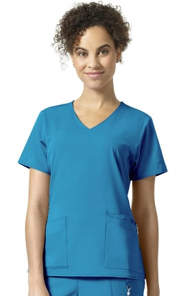 Clearance Halo by Vera Bradley Women's Nettie Classic V-Neck Solid Scrub Top