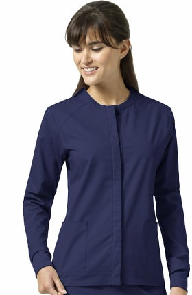 Clearance Signature Collection by Vera Bradley Women's Ruth Snap Front Sporty Solid Scrub Jacket