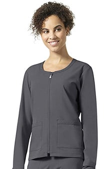 Halo by Vera Bradley Women's Julia Solid Scrub Jacket