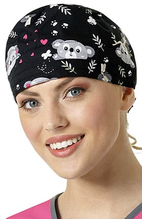 Zoe and Chloe Women's Koala Print Scrub Cap