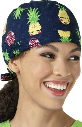 Zoe and Chloe Women's Pineapple Print Scrub Cap