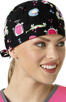 Clearance Zoe and Chloe Women's Adjustable Frog Print Scrub Hat
