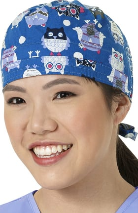 Clearance Zoe and Chloe Women's Adjustable Owl Print Scrub Hat