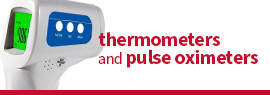 thermometers and pulse oximeters